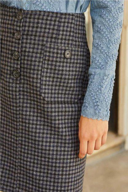 Minifalda cuadro vichy