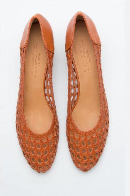 Zapato trenzado piel