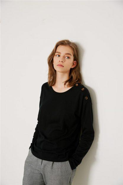 Camiseta de algodón-modal