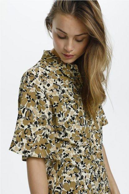 Vestido estampado floral CAMEL