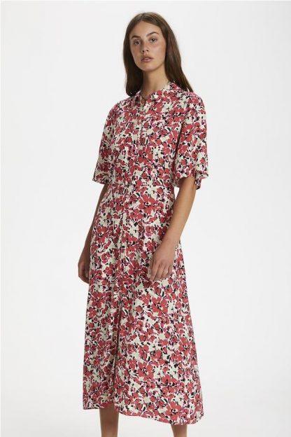 Vestido estampado floral ROJO