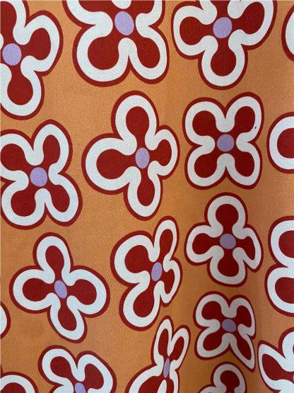 Camisa flores NARANJA