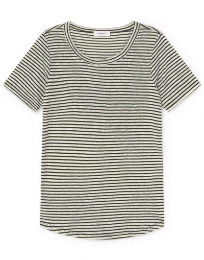 Camiseta de algodón-lino