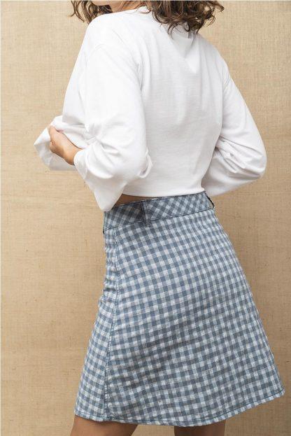 Falda cuadro vichy AZUL