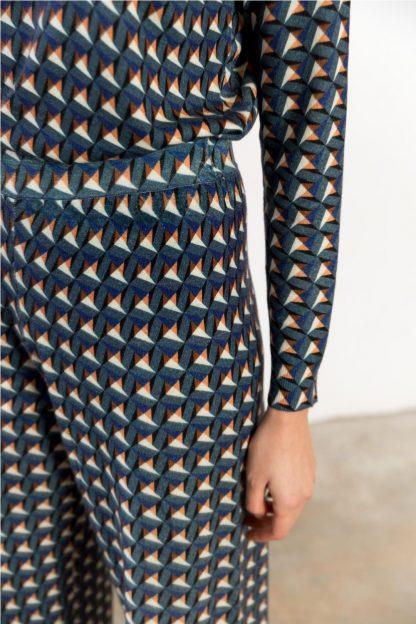 Pantalon dibujos geometricos